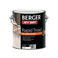 Berger Jet Dry 4L White Rapid Tread Oil Based Gloss Paint