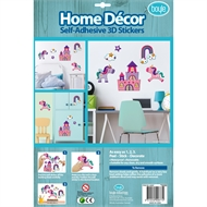 Boyle Home Decor Self-Adhesive 3D Stickers - Woodgrain Unicorns