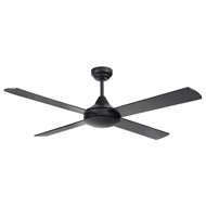 Brilliant 122cm Hornet Black 4 Blade Ceiling Fan