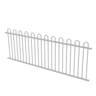 Protector Aluminium 2450 x 900mm Loop Top Fence Panel - Surfmist