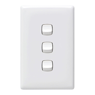 HPM LINEA 3 Gang Wall Switch