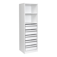 Multistore 1495 x 450 x 430mm Wardrobe Insert With 1 Adjustable Shelf And 5 Standard Drawer