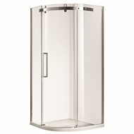 Rick McLean's Designer Bathware 1000 x 1000 x 2000mm Curved Euro Frameless Shower Screen And Base - RIGHT HAND
