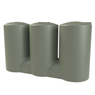 Melro 3007L Squat Slimline Poly Water Tank - Mist Green