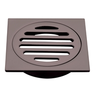 Mondella 80mm Dark Bronze Square Floor Grate