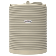 Polymaster 4500L Tall Round Corrugated Poly Water Tank - Smooth Cream