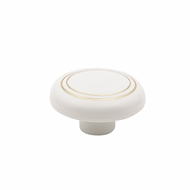 Prestige 41mm White Plastic Knob With Gold Ring