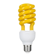 Brilliant E27 20W Yellow Anti Insect CFL Spiral Globe