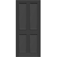 Strata 2040 x 820 x 41mm Monument Parkwood Aluminium Entrance Door