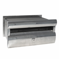 Velox Polished Silver Extend-A-Box Front Open Letterbox