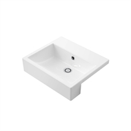 Caroma 450mm White Liano Nexus Semi Recessed Basin 0TH
