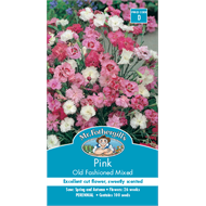 Mr Fothergill's Pink Old Fashioned Mixed Flower Seeds