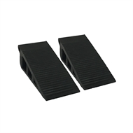 Adoored Medium Black Rubber Wedge Door Stop - 2 Pack