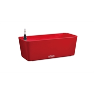 Eden 28cm Red Plastic Self Watering Trough Pot