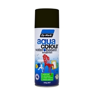 Dy-Mark 300g AquaColour Water Based Enamel  - Gloss Black
