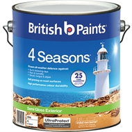 British Paints 4 Seasons 4L Semi Gloss White Exterior Paint