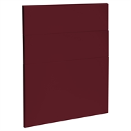 Kaboodle 600mm Seduction Red Modern 3 Drawer Panels