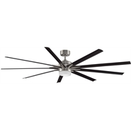 Fanimation 84 Inch Black Brushed Nickel Odyn Ceiling Fan