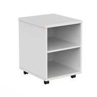CeVello 858 x 600 x 500mm Oak And Charcoal Mobile Bookshelf