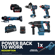 Bosch Blue 18V Brushless 4 Piece Cordless Combo Kit