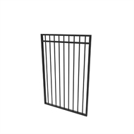 Protector Aluminium 975 x 1500mm Custom Double Top Rail All Up Gate