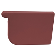 COLORBOND 115mm RH Quad Gutter Stop End - Manor Red