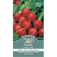 Mr Fothergill's Scarlet Globe Radish Vegetable Seeds