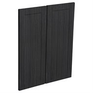 Kaboodle Black Forest Country Corner Wall Cabinet Doors - 2 Pack