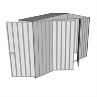 Build-a-Shed 3.0 x 0.8 x 2.3m Gable Single Hinged Side Door Shed - Zinc