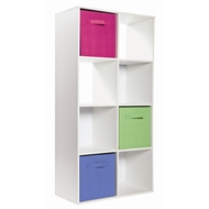 Clever Cube Compact 2 x 4 White Storage Unit