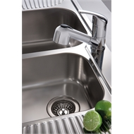Oliveri 1080mm 1.75 Right Hand Bowl Petite Sink With 1 Tap Hole