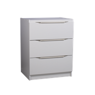 Multistore 780 x 500 x 450mm 3 Jumbo Drawer Storage Unit - Crisp White