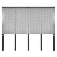 Pinnacle 1495 x 1800mm 4 Piece Pegboard and Bracket Set