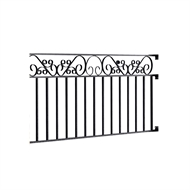 Masterworks 2300 x 40 x 900mm Hadley Half Fence Panel Set