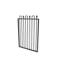 Protector Aluminium 975 x 1250mm Custom Loop And Spear Top Pool Gate