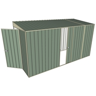 Build-a-Shed 1.5 x 3.7 x 2m Single Sliding Side Door Skillion Shed - Green