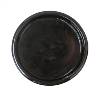 Northcote Pottery Black Primo Round Saucer - 250mm