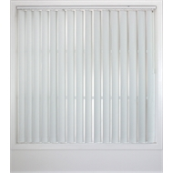 Windoware White Poly Vertical Delta Blind - 1800mm x 2100mm