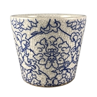 Tuscan Path 14cm Blue Zhou Cone Pot