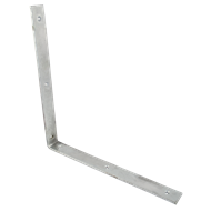 Carinya 380 x 380 x 40 x 6mm Galvanised Heavy Duty Angle Bracket