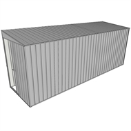 Build-a-Shed 1.5 x 5.2 x 2m Sliding Door Tunnel Shed without Side Doors - Zinc