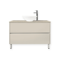 Quay 900mm Sandy Day Colourstone Bell Floor Vanity