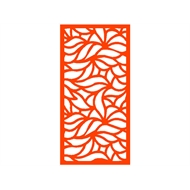 Protector Aluminium 600 x 900mm Profile 15 Decorative Panel Unframed - Orange
