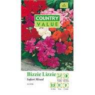 Country Value Safari Mixed Bizzie Lizzie Flower Seeds