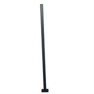 Protector Aluminium 50 x 50 x 1600mm Flanged Fence Post With Cap