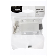 Taskmaster 38mm Push to Open Magnetic Door Catch - White