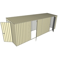 Build-a-Shed 1.5 x 6 x 2m Dual Hinged Side Door Skillion Shed - Cream