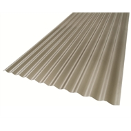 Suntuf 6m Grey Solarsmart Polycarbonate Corrugated Roofing