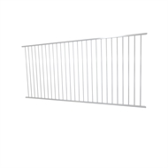 Protector Aluminium 2450 x 1200mm Flat Top Ulti-M8 Fence Panel - Pearl White