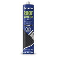 Selleys Roof & Gutter 310g Black Silicone